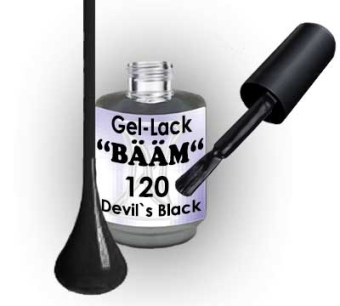 Gel-Lack BÄÄM No.120 Devils Black