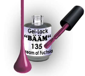 Gel-Lack BÄÄM No.135 Cream of Fuchsia