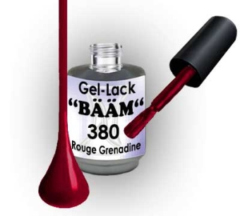 Gel-Lack BÄÄM No.380 Rouge Grenadine